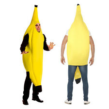 Adult Banana Unisex Outfit Funny Stag Fruit Party Fancy Dress Costume Halloween