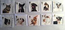 2010 battersea chien et chat complet timbres fu sur papier-singles disponible
