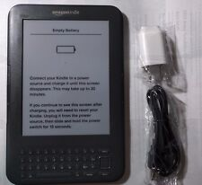 "Amazon Kindle Keyboard 3G Free +Wi-Fi 6"" E Ink Display 4GB eBook Reader 3rd Gen✔"