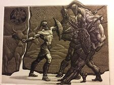 "JULIAN JORDANOV / Bulgaria , Ex Libris, ""Heracles and Geryon"" Limited Ed. 11/100"
