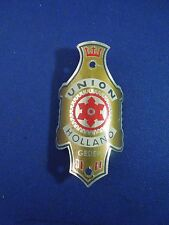 Vintage Union Holland Gedep. Bicycle Head Badge Emblem