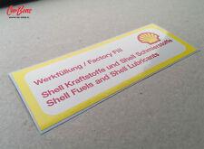 SHELL AIR CLEANER DECAL, 911 (1973 – 1983) porsche sticker yellow resto repro