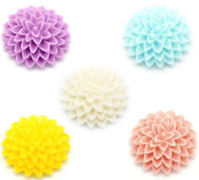 Mixed Resin Flower Embellishments Jewelry Making Findings 15x6mm