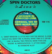 Spin Doctors Live CD Very Rare Little Miss Can't Be Wrong Two Princes Shinbone