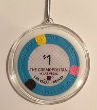 Cosmopolitan Casino Las Vegas $1 Chip Christmas Ornament Holiday Hanging Cosmo
