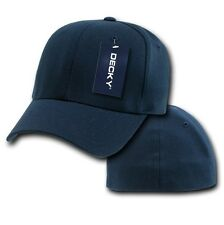 Navy Blue Solid Blank Plain Flex Curved Baseball Ball Fit Fitted Cap Hat - L/XL