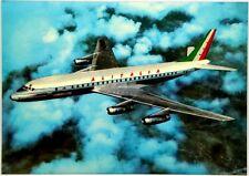 Cartolina Aviazione - Aereo in Volo DC-8 Jet Alitalia - Non Viaggiata