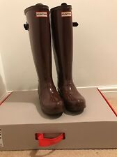 Ladies Size 4 Tall Boxed Hunter Wellies Umber Colour **festival** Bnwt
