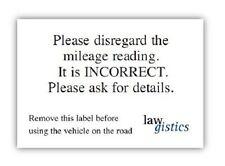 Vehículo De Kilometraje descargo de responsabilidad pegatinas para la venta de automóviles con incorrecta Kilometraje