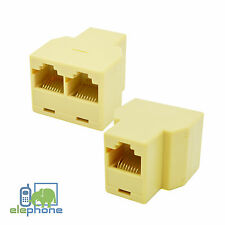 3 Way RJ45 Y Cable Splitter Double Adapter 3 Port Ethernet LAN Coupler