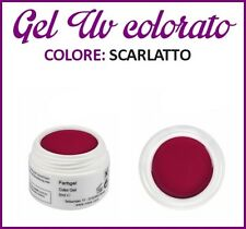 GEL UV NAIL ART COLORATI  RICOSTRUZIONE UNGHIE NAILS TIPS TIP 5ML SCARLATTO