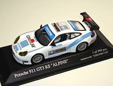 "Porsche 911 gt3 rs 996 ""ALPINE/com for car"" - Minichamps 1:43 - le 999 pc."