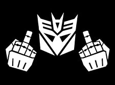 Car Decal Sticker Transformer Decepticons with fingers