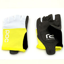 POC Raceday Cycling Gloves // Unobtanium Yellow/Hydrogen White // Large