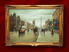 LARGE ORIGINAL OIL PAINTING STEVEN SCHOLES TO MANCHESTER CENTRAL NORTHERN ARTIST