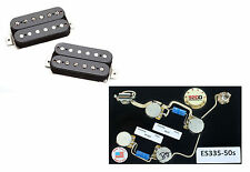 Duncan SH-1 Vintage Blues Pickup Set, Black + ES-335 50s Wiring Harness Gibson
