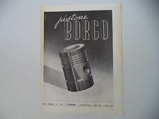 advertising Pubblicità 1948 PISTONE BORGO - TORINO