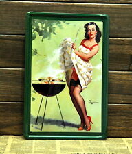 """Sexy Lady BBQ"" Vintage Sign Metal Poster Plaque Home Decor Store Bar Wall Art"