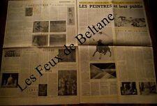 Article Les peintres et leur public,galerie Charpentier expos ,  1955