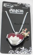 New Disney Alice In Wonderland Red Queen Of Hearts Locket Pendant Necklace