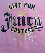 Juicy Couture Zip Up Velour M Pink Logo Hooded Hoodie Sexy EUC