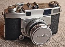 Minolta Super A Vintage Rangefinder camera w/5cm F/2 Chiyoko Super Rokkor + case