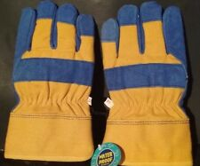 MEN'S WATERPROOF/INSULATED/COWHIDE WINTER WORK GLOVES SIZE XXL