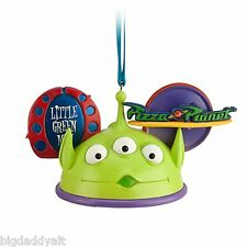 New Disney Parks Toy Story Little Green Men Aliens Ear Hat Christmas Ornament