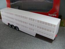 1/87 Herpa 3 ejes Remolque transporte de ganado nueva versión 076333-002