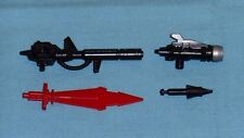 G1 Transformers dinobot SNARL WEAPONS PARTS LOT #2 sword, gun, launcher, missile