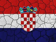 PAINT ABSTRACT FLAG CRACKED CONCRETE CROATIA CROATIAN CHECKED PRINT BMP10287