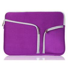 """11""""13"""" 15"""" Laptop Bag Neoprene Sleeve Case Cover Skin For MacBook Air Pro White"""