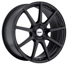17x8 TSW Interlagos 5x112 +45 Black Rims Fits VW jetta (MKV,MKVI) Passat B6