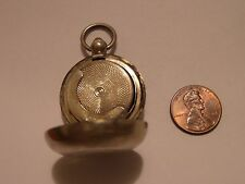 ANTIQUE STERLING SILVER WATCH OR COIN CASE LION PASSANT & UNIDENTIFIED STAMPS