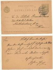 Ungarn Postkarte 1903 nach Wien  #l502