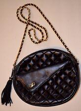 Vintage Koret Black Quilted Leather Cross Body Ladies Bag