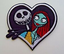 Disney JACK SKELLINGTON & SALLY HEART NBC  Iron On/ Sew On Applique Patch