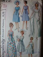 VINTAGE 1960'S EMPIRE LINE WEDDING EVENING DRESS SEWING DRESSMAKING PATTERN