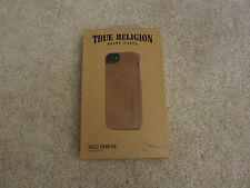 $50.00 NEW TRUE RELIGION JEANS Billy Snap-On iPhone 5 5S Leather Case AUT00002