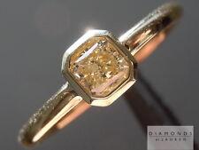 .30ct Fancy Light Yellow SI1 Radiant Cut Bezel Set Ring R5371 Diamonds by Lauren