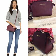 BNWT Michael Kors Merlot/wine Red Selma Medium Messenger Crossbody bag Rrp £220