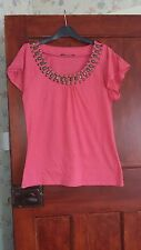 GEORGE ladies top,size 12,pink,used, read description