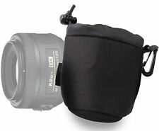 Small Soft Neoprene Camera Lens Pouch with Toggle for Nikon AF-S DX Nikkor 35mm
