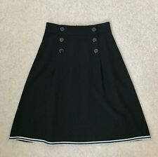 Designer Emporio Armani skirt 40IT, 10UK black casual business party kneelength