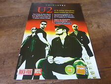 U2 - TRIBUTE!!!!!!!!!!!!!!!!!!!!!!1!FRENCH PRESS ADVERT