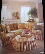 Waverly Home Decor sewing pattern Slipcover Sofa Chair Ottoman slip cover
