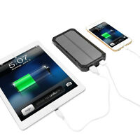 100000mah Waterproof Solar Power Bank External Battery Charger For Cell Phones