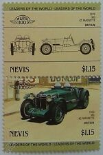 1933 MG K3 MAGNETTE Car Stamps (Leaders of the World / Auto 100)