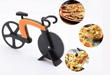 Non Stick Bike Pizza Cutter Bicycle Food Slicer Kitchen Utensil Chopper Knife #W