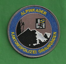 GRAUBUNDEN SWITZERLAND POLICE ALPINKADER MOUNTAIN SEARCH & RESCUE PATCH